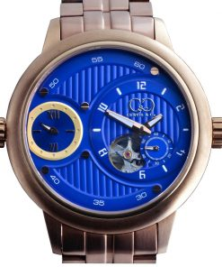 CURTIS & Co - Big Time Passport Blue / Rose Gold Case