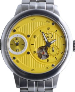 CURTIS & Co - Big Time Passport Yellow / Stainless Steel Case