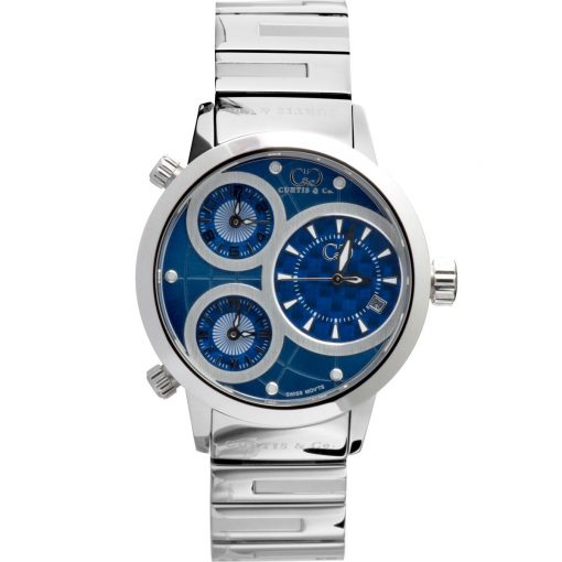 Curtis & Co Watches 42mm - Blue Dial/Stainless Steel Case