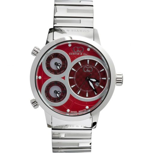 Curtis & Co Watches 42mm - Red Dial/Stainless Steel Case