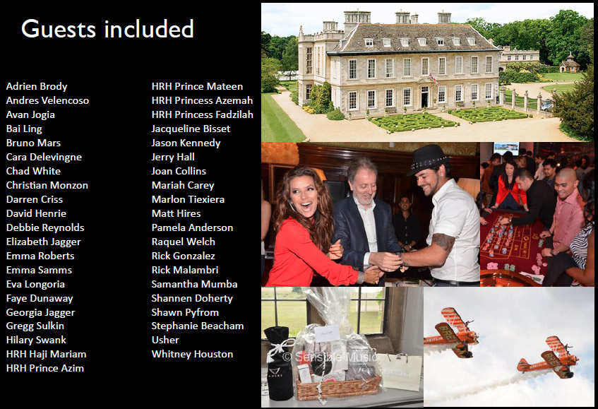 Stapleford park celebrity weddings